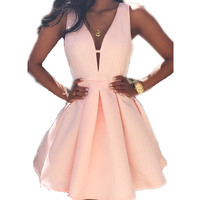 *Online Exclusive* Fit and Flare V-Neck Dress