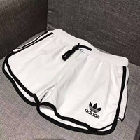 Adidas Woman Fashion Drawstring Gym Yoga Sports Running Shorts