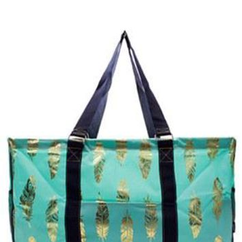 Utility Tote Large - Feather Print - 2 Color Choices