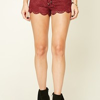 Faux Suede Lace-Up Shorts