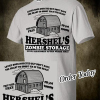 Walking Dead Zombie Funny T Shirt