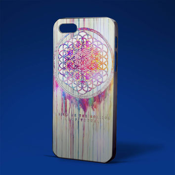 BMTH Sempiternal in rainbow watercolor drop black for iPhone 4/4s,iPhone 5/5s,5c,6 samsung galaxy S3,S4,S5, hard case