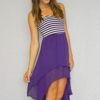 Game Day Beauty Dress (Purple) | Girly Girl Boutique
