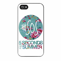 5 Seconds Of Summer Floral Pink iPhone 5 Case
