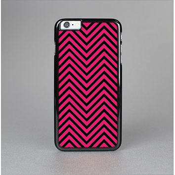 The Black & Pink Sharp Chevron Pattern Skin-Sert Case for the Apple iPhone 6