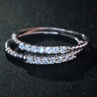 925 sterling silver Zircon ring ,simple Zircon ring,a perfect gift
