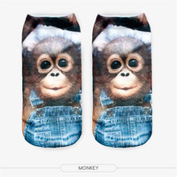 Men & Women Casual Cute 3D Image Cotton Socks