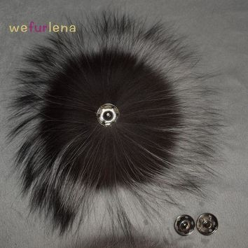 DCCKU62 Big Genuine Real Silver Fox Fur Pompom Fur Pom Poms Hair Accessories Fur Pompon Ball For Shoes Hats Bags