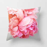 Peonies Forever Throw Pillow by Ez Pudewa