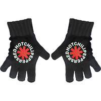Red Hot Chili Peppers Asterisk Knit Gloves Black
