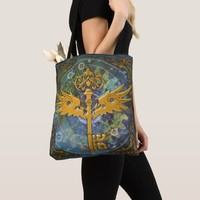 Steampunk Winged Key Tote Bag