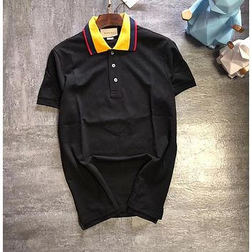 gucci 2018ss Leopard embroidery polo shirt 9