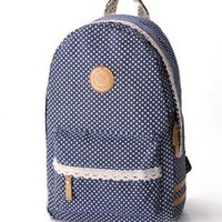 Sweet Lace With Polka-dot Canvas Backpack from styleonline