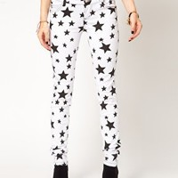 Tripp NYC Jeans In Star Print at asos.com