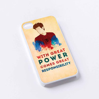 Spiderman Quote Great Power Responsibility iPhone 4/4S, 5/5S, 5C,6,6plus,and Samsung s3,s4,s5,s6