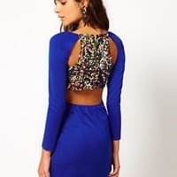 Paprika Bodycon Dress with Multi Sequin Back at asos.com