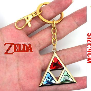 OHCOMICS The Legend of Zelda Triforce of the Gods Metal Keychain Keyring Costume Pendants Accessories Ornament Decor Key Ring