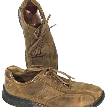 Ecco Shoes Brown Vegetable Tanned Light Shock Point Oxford Men 44 EU 10-10.5 US - Preowned