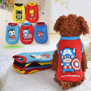 Winter Pet Dog Clothes Puppy Dog Coat Hoodies Pullover Vest Superman Small Costumes Teddy Chihuahua Roupas para Mascotas