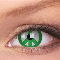 Green Peace Yearly Contact Lenses | EyesBright.com