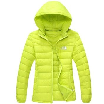 The North Face Men Brand New Ultralight Down Jacket Winter Outwear Zipper Thin Coat Fluorescence green