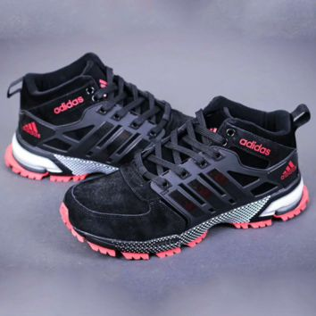 Adidas Boost Fashion Sneakers Trending Running Sports Shoes Black Red G-A-YYMY-XY
