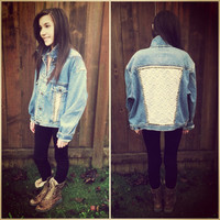 Studs & Lace Denim Jacket