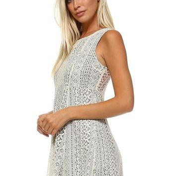 Women's Lace Detail Tank Dress