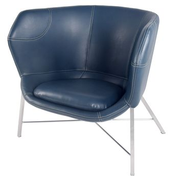 Ceres PU Leather Chair, Deep Sea Blue