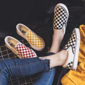 Checkered Slip On Sneakers
