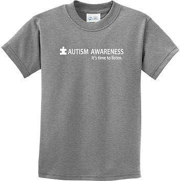 Buy Cool Shirts Autism Awareness Time to Listen Youth Kids Shirt