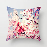 Dialogue With the Sky - Blue tones Throw Pillow by Olivia Joy StClaire