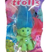 Good Luck Trolls 2015 Green with Blue Hair