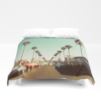 Ocean Beach Blvd San Diego Duvet Cover by SoCal Chic Photography