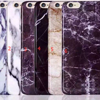 Marble Stone Grain Iphone 5s 6s 6 Plus creative cases Cover