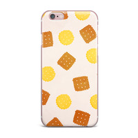 """Strawberringo """"Do You Love Biscuits?"""" Brown Yellow iPhone Case"""