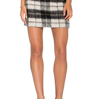 kate spade new york Woodland Check Mini Skirt in Pumice
