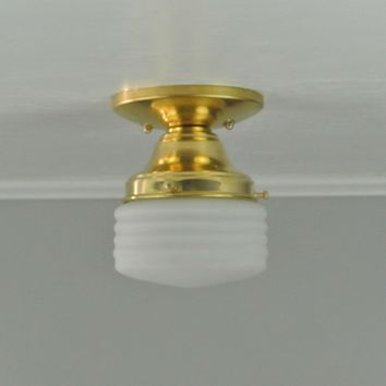 Mini Ribbed Flush Mount Light