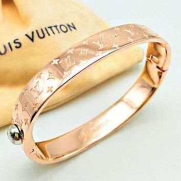 PEAPYV2 LV Louis Vuitton Fashion Trending Couple Stainless Steel Bracelet For Women Men