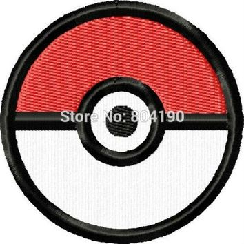 """3""""  Pokeball  tv movie Embroidered Emblem punk rockabilly applique sew on/ iron on patch  Kawaii Pokemon go  AT_89_9"""