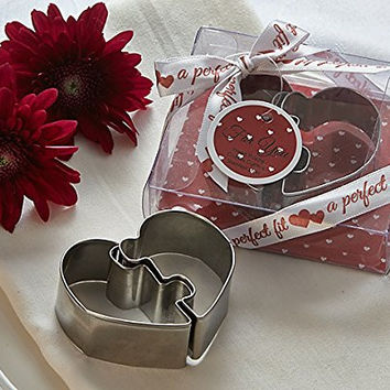 """Artisano Designs """"A Perfect Fit"""" Heart Puzzle Cookie Cutters"""