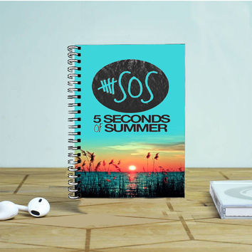5 Seconds Of Summer Meadow Logo 5Sos Photo Notebook Auroid