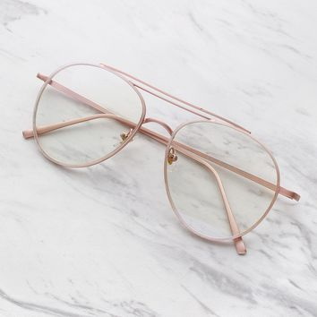Clear Lens Aviator Frames