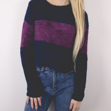 Vintage Fuzzy Cropped Sweater