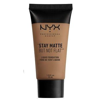 NYX Stay Matte But Not Flat Liquid Foundation - Tawny - #SMF12