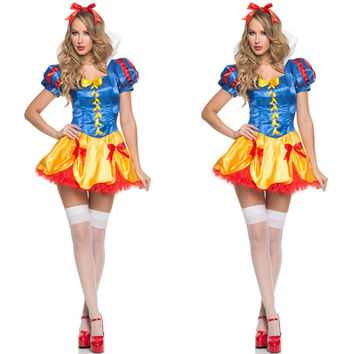 Snow White Princess Dress Lights Lovely Halloween Costume [9220883972]