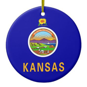 Ornament with flag of Kansas