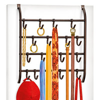 Lynk Over Door Accessory Organizer - 16 Adjustable Hooks - Bronze