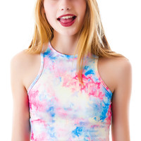 UNIF Stash Crop Top Tie Dye