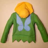 Disney Princess Fairy Inspired Tinkerbell fleece girls hoodie shirt (girls sizes)